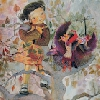 SORPRESA. (Libro escrito por Isabel Caero). Ilustración interior. (2003)