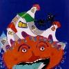 EL QUIJOTE. Afiche premiado en el concurso del IBBY, Brasil. Participó de la muestra itinerante en la bienal de Bolonia, 2003