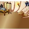 """EL QUIRQUINCHO BOLITA. Libro del autor Hugo Molina Viaña. Ilustración interior del cuento """"Ratonciélago""""."""