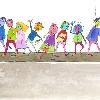 """Ilustración del libro """"Mateo y su cebra"""" de Inga Llorente del Plan de Tráfico y Transporte del Gobierno Municipal de La Paz."""