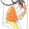 UNA HISTORIA UN VALOR II. (Libro escrito por los niños ganadores, resultado de un concurso de la Defensoría del Pueblo) Ilustración interior. Dibujo y acuarela sobre papel cebolla (2007).