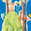 UNA HISTORIA UN VALOR I. (Libro escrito por los niños ganadores, resultado de un concurso de la Defensoría del Pueblo) Ilustración interior en acuarela (2006).